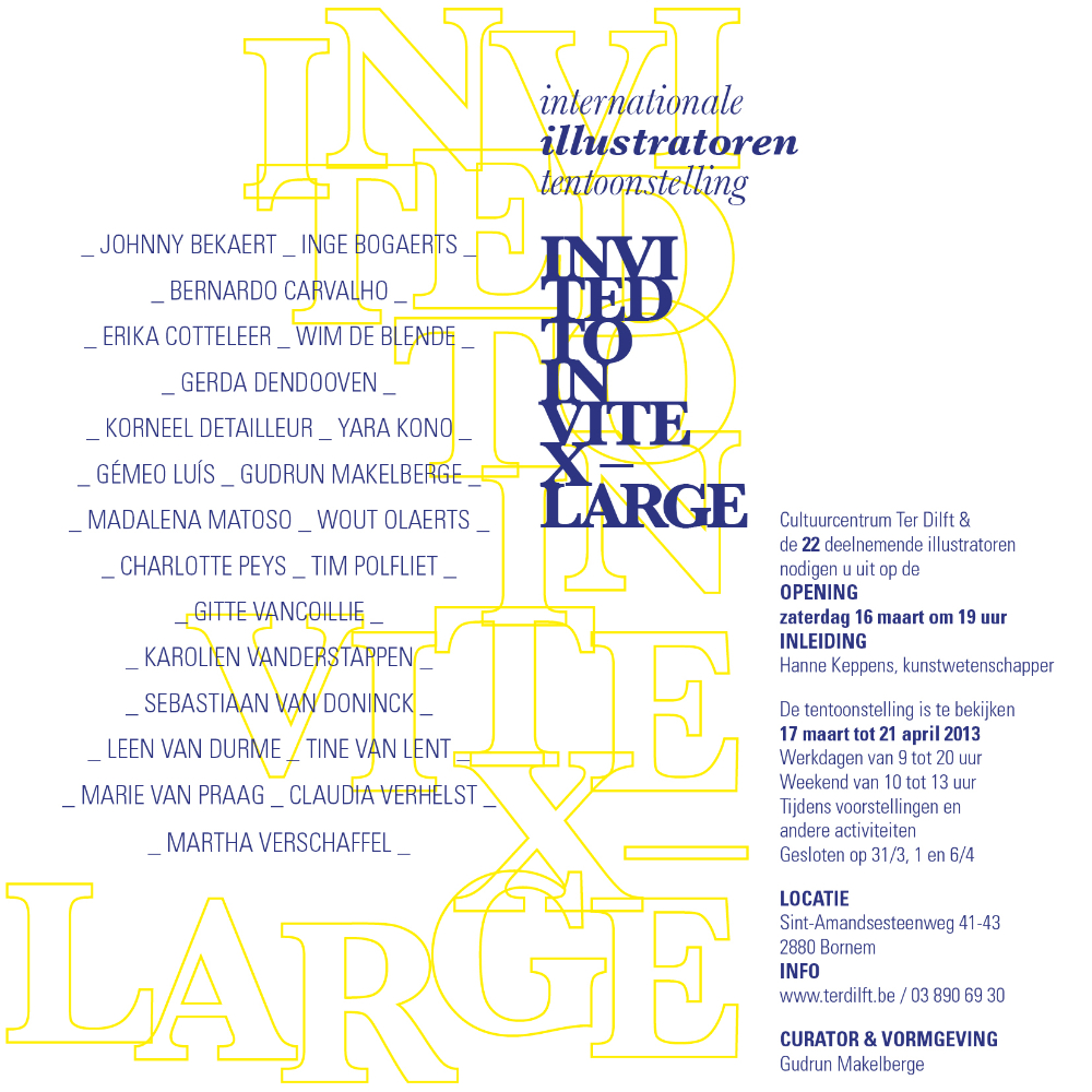 internationale illustratoren tentoonstelling - Invited to Invite X Large